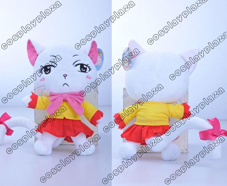 Fairy Tail Anime Charle Cat Stuffed Toy Plush Handmade Doll B