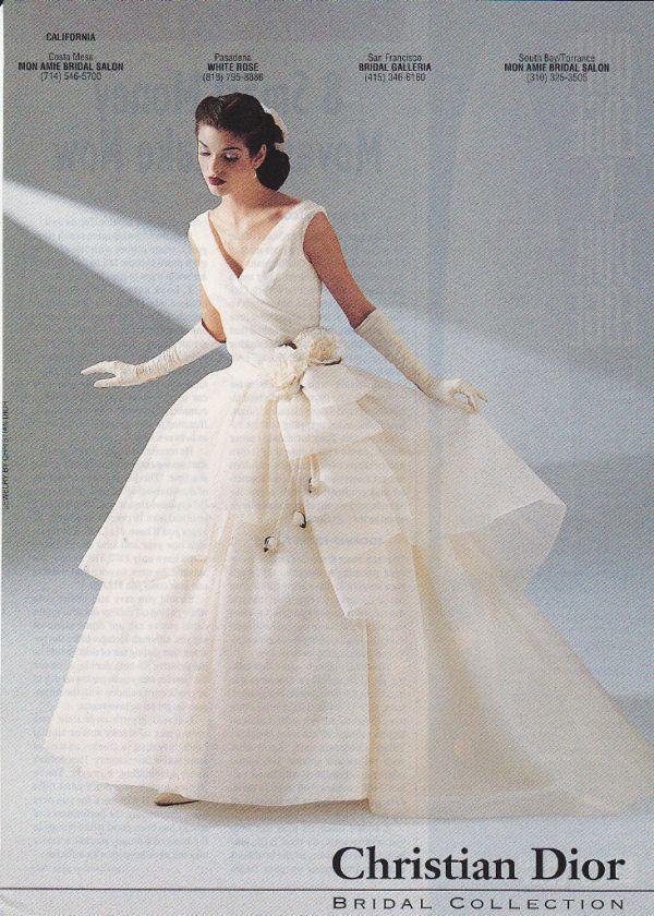 1997 CHRISTIAN DIOR Wedding Gown Pretty Bride Print Ad