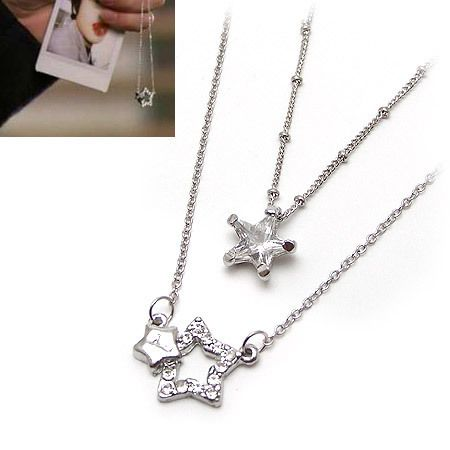 Korean Drama Youre Beautiful rhinestone Star Necklace