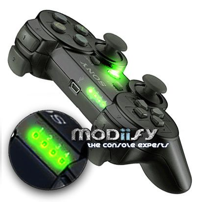 LED Mod Kit PS3 Controller 1234 Button Player (Green)