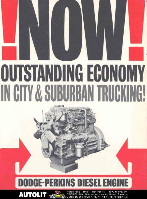 1962 Dodge Perkins Diesel Truck Engine Brochure |