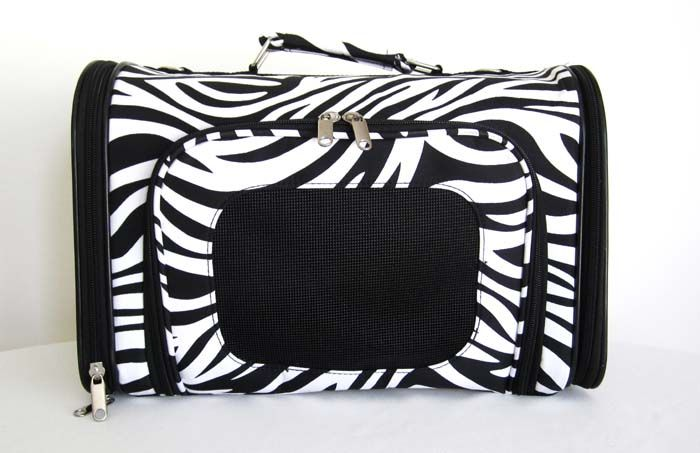 16 Pet Luggage/Carrier Dog/Cat Travel Bag Purse Zebra